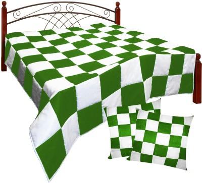 Zikrak Exim Checkered King Quilts & Comforters Beige, Orange
