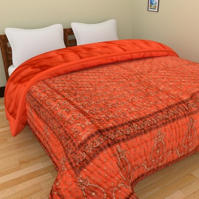 The Ethnic Story Embroidered Single Quilts & Comforters Orange