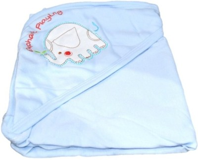 Mama & Bebe Embroidered Double Hooded Baby Blanket Blue