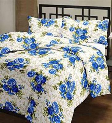 Nakoda Abstract Single Dohar Blue, White