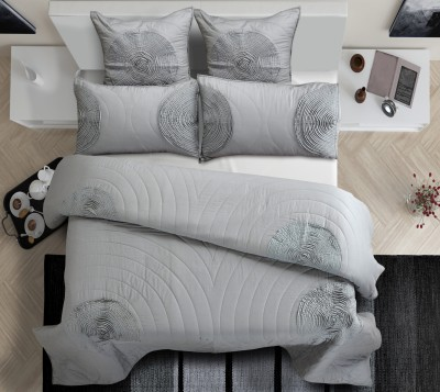 Shahenaz Home Shop Geometric King Quilts & Comforters Grey