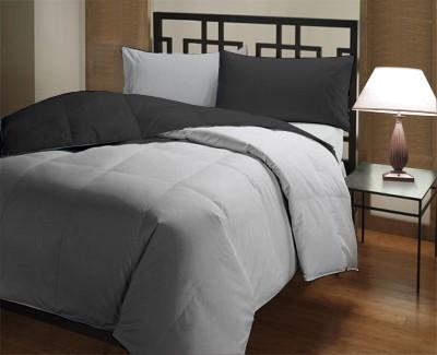 Featherlite Plain Single Duvet Black, Grey