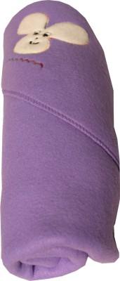 My NewBorn Cartoon Crib Hooded Baby Blanket Purple