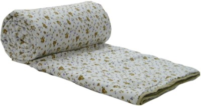 Snuggle Floral Single Quilts & Comforters Brown, White