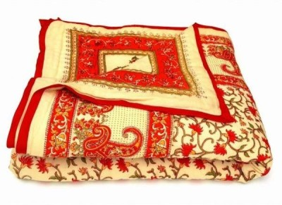 Bagrastore Floral Single Quilts & Comforters Red