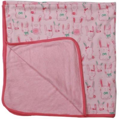 Babysafe Cartoon Crib Crib Baby Blanket Pale Pink, Green, Pink Fizz