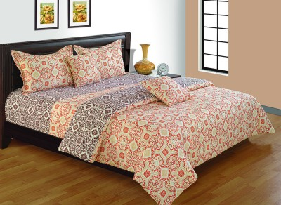 House This Geometric Double Quilts & Comforters Brown