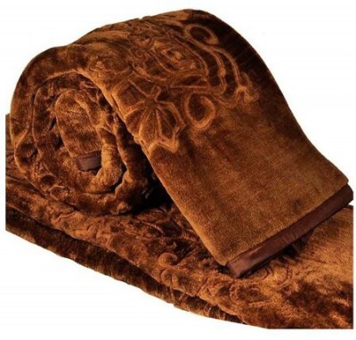 optimistic Home Furnishing Abstract Double Blanket Brown