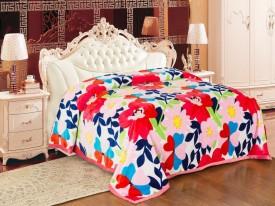 Signature Floral Single Blanket Multicolour(Coral Blanket, 1 Blanket)