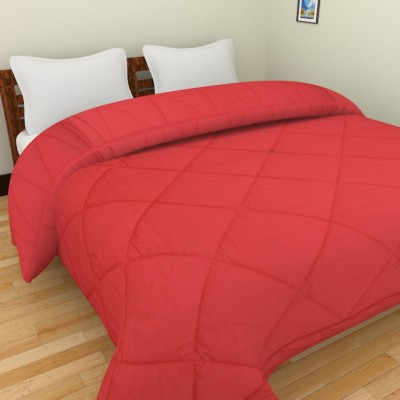 Cotton Treat Plain King Quilts & Comforters Red