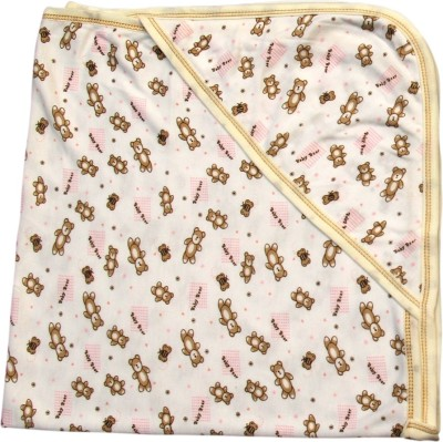 Offspring Printed Single Hooded Baby Blanket Multicolor