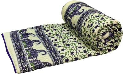 Sudharaj Paisley Double Blanket Purple
