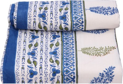 Chhipa Prints Floral Double Quilts & Comforters Blue