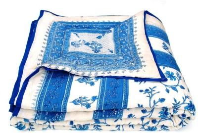 Silkworm Floral Double Quilts & Comforters Blue