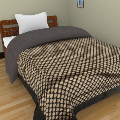 Shra Polka Single Quilts & Comforters Black