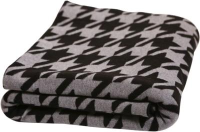 Pluchi Geometric Single Blanket Black