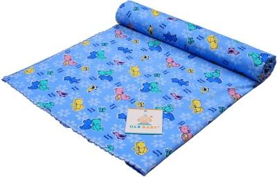 Ole Baby Printed Single Swadding Baby Blanket Blue