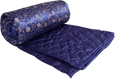 Ooltah Chashma Abstract Double Quilts & Comforters Blue