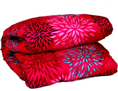 IndiWeaves Floral Double Blanket Pink