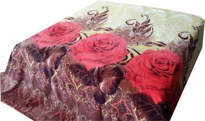 Welhouse Floral Double Blanket Brown