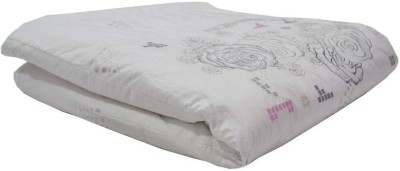 The Intellect Bazaar Floral Double Quilts & Comforters White and Rose