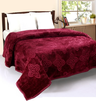 optimistic Home Furnishing Abstract Double Blanket Pink