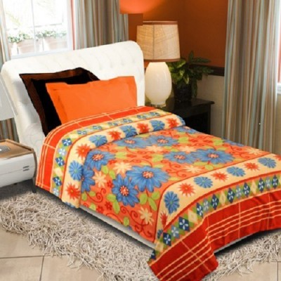 Surya Floral Double Blanket Multicolor