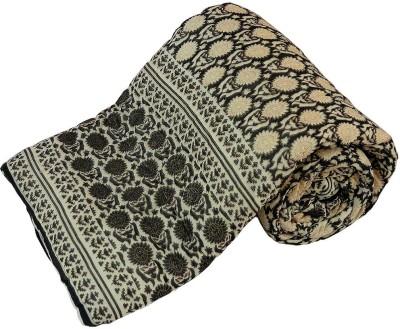 Kiran Udyog Floral Single Quilts & Comforters Beige, Black