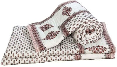 Little India Abstract Double Quilts & Comforters Brown