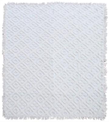 Saral Home Geometric Double Blanket Ivory