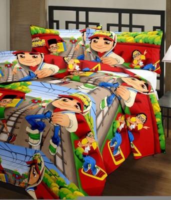 Flourish Cartoon Single Dohar Multicolor