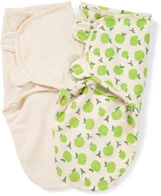 Summer Infant, Inc. Printed, Plain Crib Swadding Baby Blanket Apple, Ivory