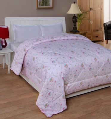 Shivalik Floral Double Quilts & Comforters Pink