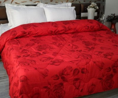 Snuggle Floral Double Quilts & Comforters Red