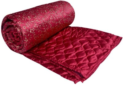 Home Shop Gift Floral Double Quilts & Comforters Red