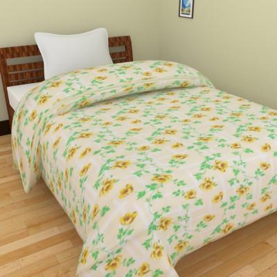 Ridan Floral Single Blanket Green