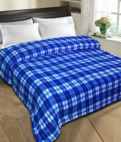 Shiv Fabs Checkered Single Blanket Blue