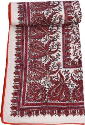 Chhipa Prints Paisley Double Quilts & Comforters Pink