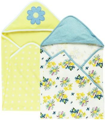 Babyoye Printed Single Swadding Baby Blanket Yellow