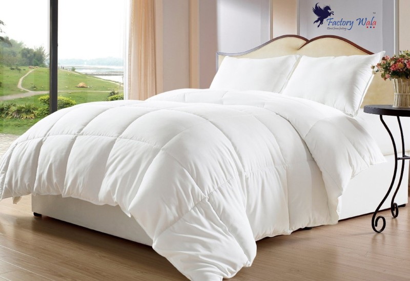 D&D Plain Double Dohar White(AC Blanket)