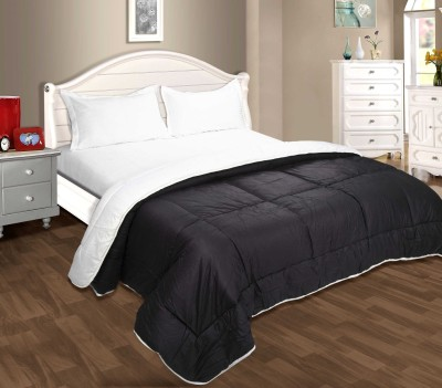 Zyne Checkered Single Quilts & Comforters White, Black