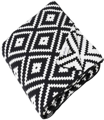 Pluchi Checkered Queen Throw Black/Natural