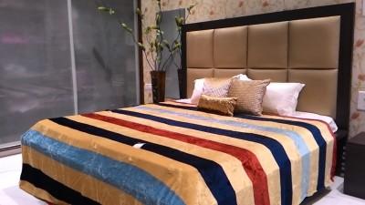 Tima Striped Double Blanket Multicolor