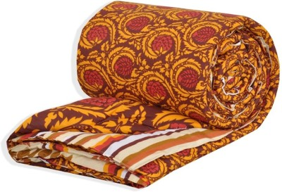 Salona Bichona Abstract Single Quilts & Comforters Brown