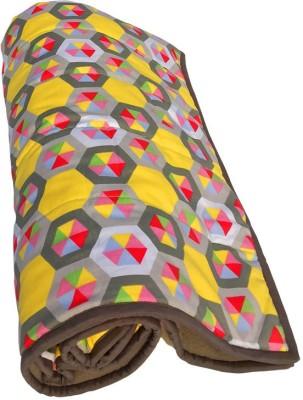 Wobbly Walk Geometric Single Blanket Multi-colored