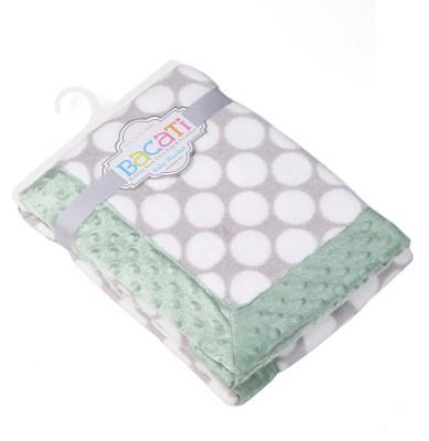 Bacati Polka Single Blanket Multicolor