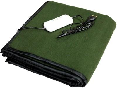 LeoSpark Plain Single Electric Blanket Green