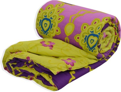 Salona Bichona Floral Single Quilts & Comforters Yellow