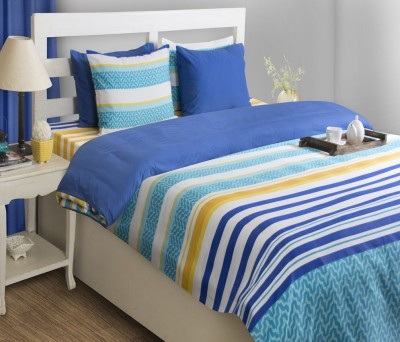 House This Striped Double Dohar Blue