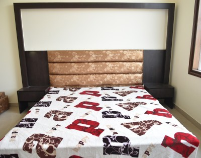 DHANI Printed Double Blanket White